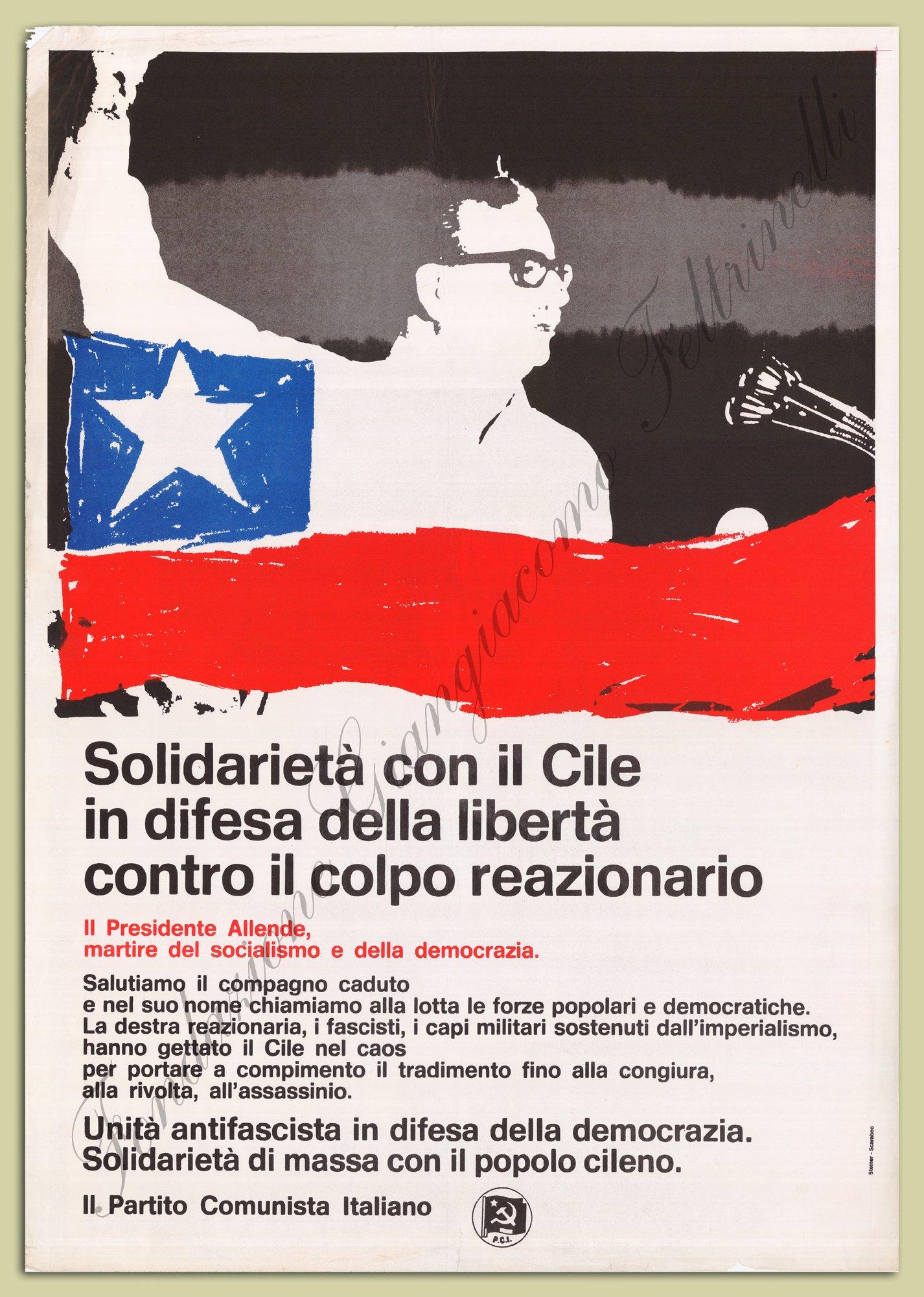 """Manifesto PCI """"Solidarietà Cile"""